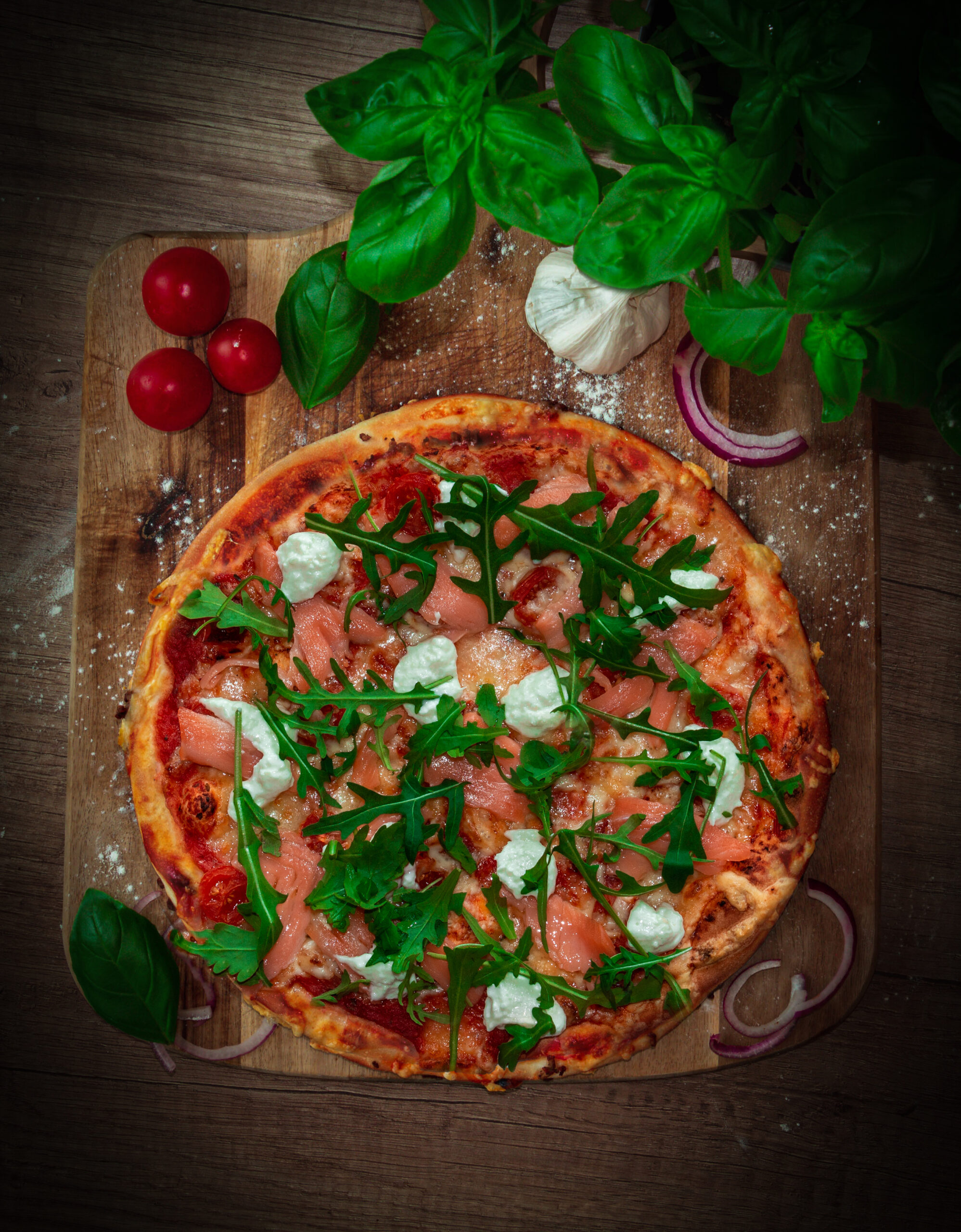 "Pizza Deluxe ""Mir Lachs"""
